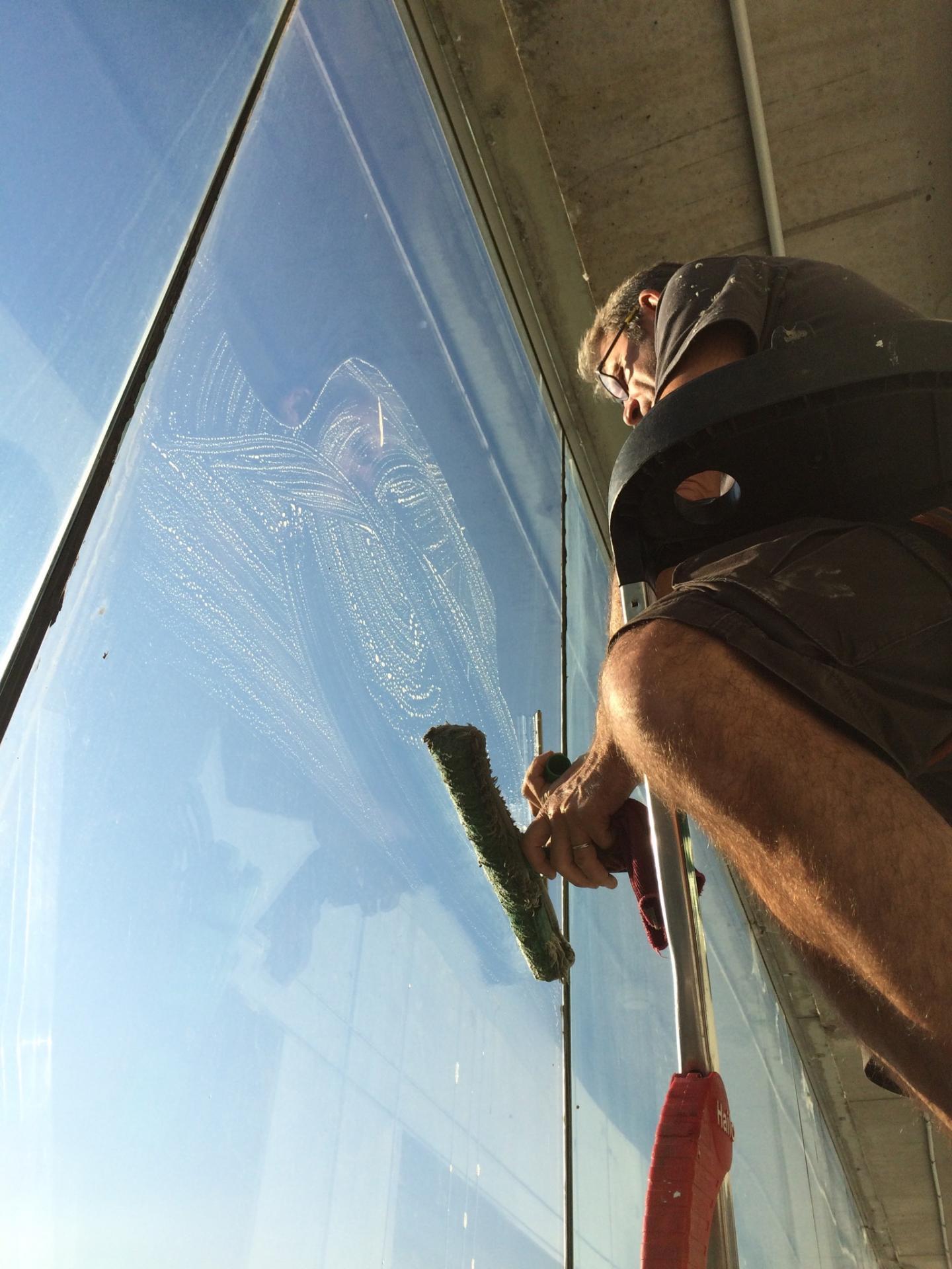 Nettoyage de vitres à l'américaines